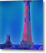 Light House At Sunset 1 Metal Print