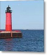 Light House Lake Michigan Metal Print