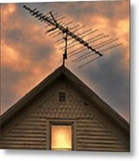 Light In Attic Window Metal Print