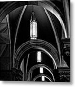 Light In The Basilica Metal Print