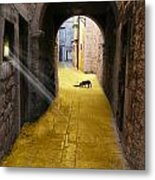 Light In The Tunnel Metal Print