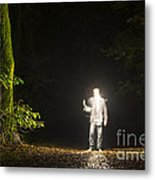 Light Man Metal Print