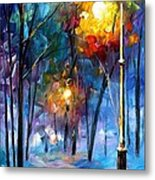 Light Of Luck - Palette Knife Oil Painting On Canvas By Leonid Afremov Metal Print