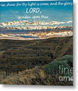 Light Of The Lord Metal Print