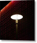 Light On At The Museum Metal Print