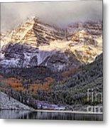 Light On Maroon Bells Metal Print