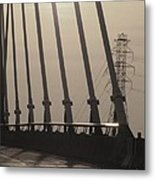 Light On The Bridge Metal Print