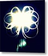 Light Painting Flower Metal Print