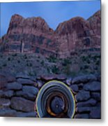 Light Painting Inside A Round Tunnel Metal Print