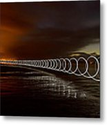Light Play On Saunton Sands Metal Print