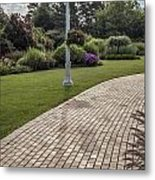 Light Post And Walkway At Michigan State University Metal Print