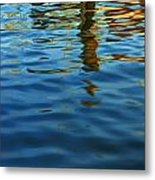 Light Reflections On The Water By A Dock At Aransas Pass Metal Print