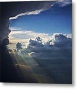 Light Shafts From Thunderstorm II Metal Print