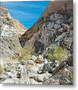 Light Side And Dark Side In Big Painted Canyon In Mecca Hills-ca Metal Print