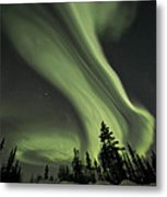 Light Swirls Over The Midnight Dome Metal Print