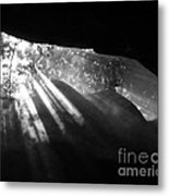 Light Through Mist In Cave Metal Print