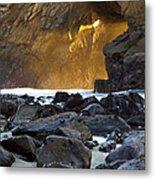 Light Through The Keyhole Arch Metal Print