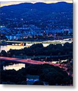 Light Time On Donau Metal Print