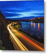 Light Trails On 99e Metal Print