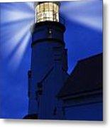 Light Up The Sea Metal Print