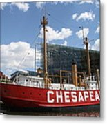 Light Vessel Chesapeake - Baltimore Harbor Metal Print