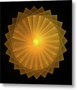 Light Wheel Metal Print