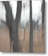 Light Within The Trees Metal Print