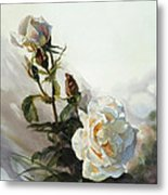 Light Yellow Rose Metal Print