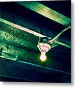 Lightbulb And Cobwebs Metal Print