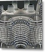 Lighted Coils Metal Print
