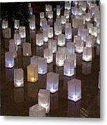 Lighted Lantern Bags Metal Print