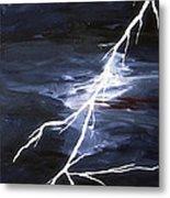 Lightening Bolt Painting Fine Art Print Metal Print