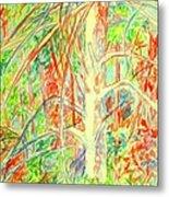 Lightening Struck Tree Again Metal Print