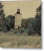 Erie Lighthouse Among The Trees Metal Print