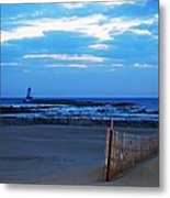 Lighthouse And Beach Metal Print