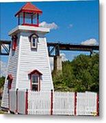Lighthouse And Bridge Metal Print