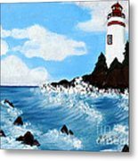 Lighthouse And Sunkers Metal Print
