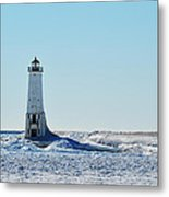 Lighthouse And Winter Metal Print