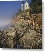 Lighthouse At Bass Harbor Maine Metal Print