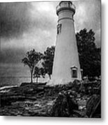 Lighthouse At Marblehead Metal Print