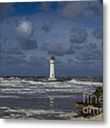 lighthouse at New Brighton Metal Print