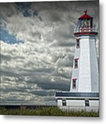 Lighthouse At North Cape On Prince Edward Island Metal Print