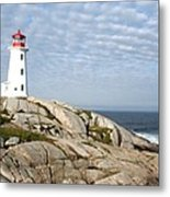 Lighthouse At Peggys Point Nova Scotia Metal Print