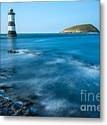 Lighthouse At Penmon Point Metal Print