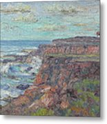 Lighthouse At Point Cabillo  Metal Print