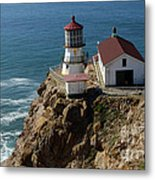 Lighthouse At Point Reyes Metal Print