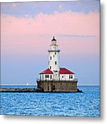 Lighthouse At The Navy Pier Metal Print