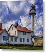 Lighthouse At Whitefish Point Metal Print