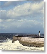 Lighthouse At Whitehaven Metal Print