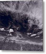 Lighthouse Beach Dunes Bw Metal Print